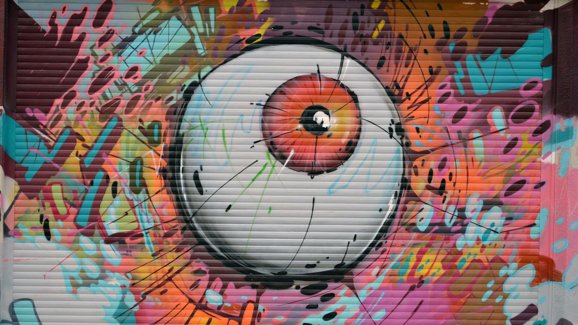 grafitti de um olho