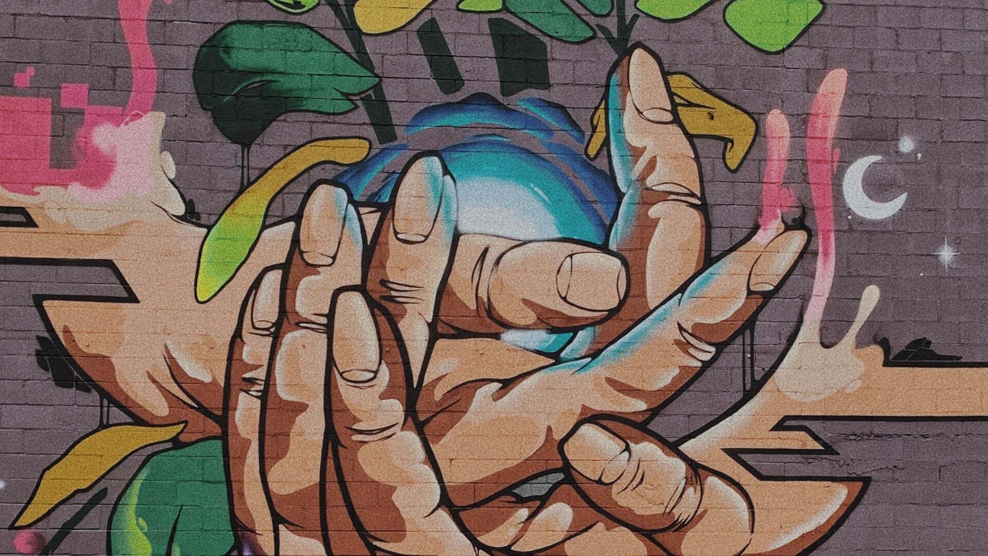 grafitti de mãos