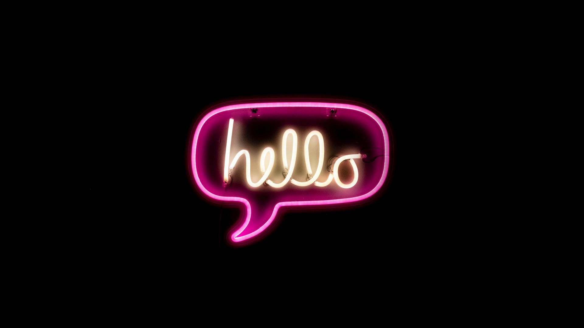 Neon a dizer Hello