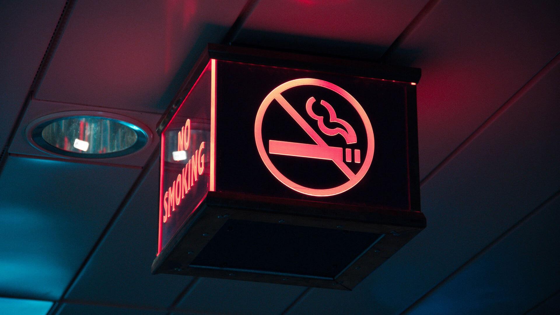 Sinal de Não Fumadores