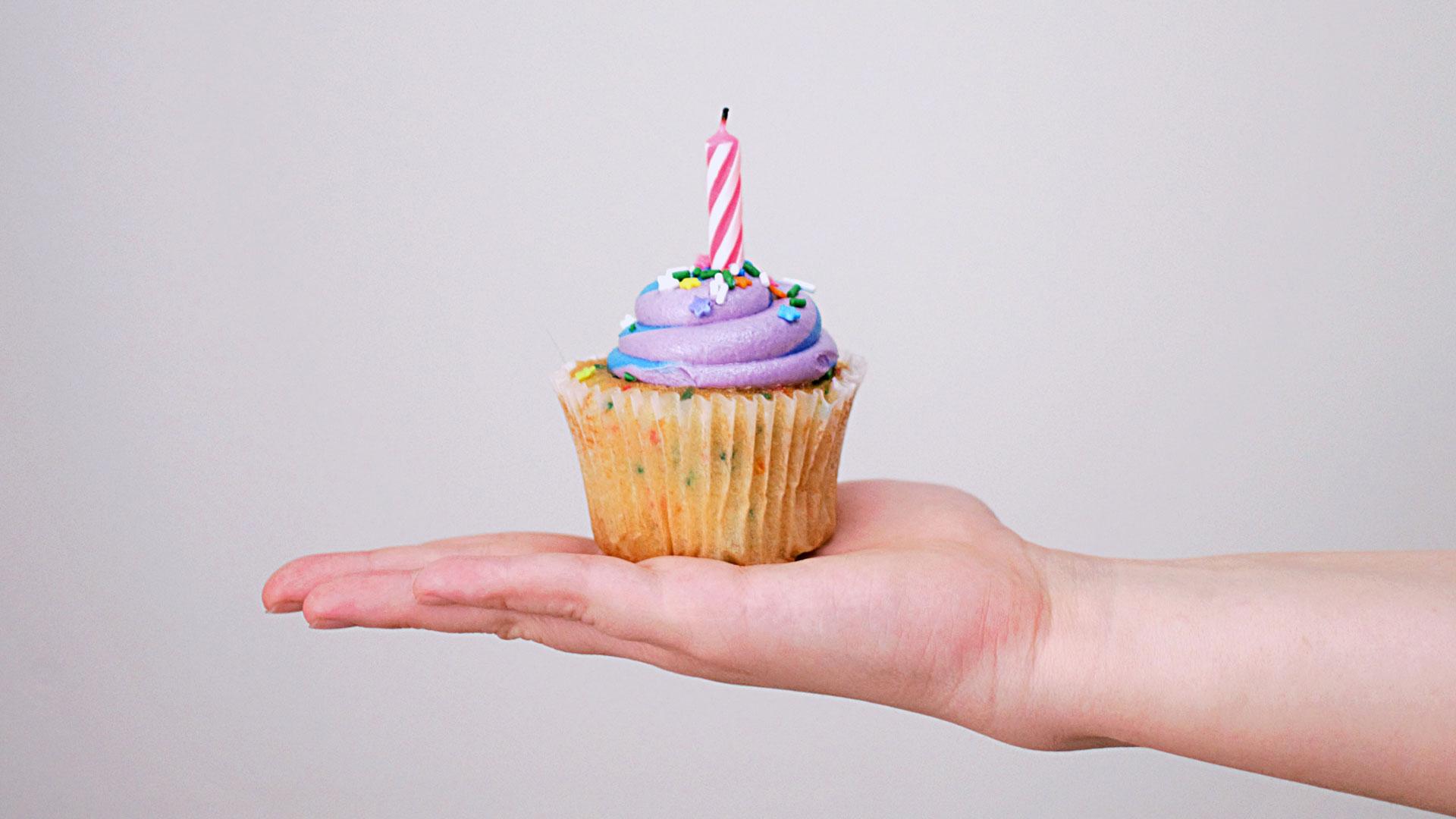 cupcake com vela